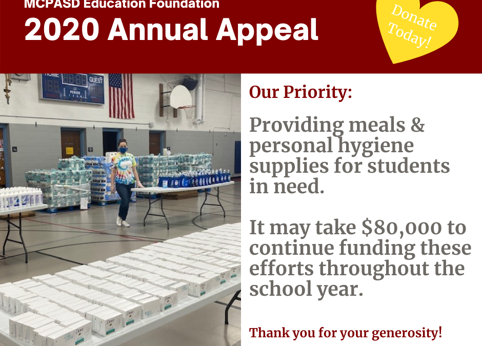 2020 Annual Appeal: Donate Today to Provide Meals & Hygiene Supplies for Students in Need