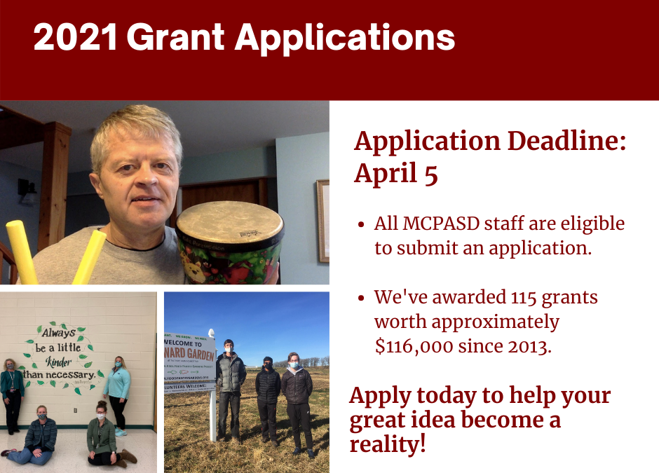 2021 Grant Application Is Available