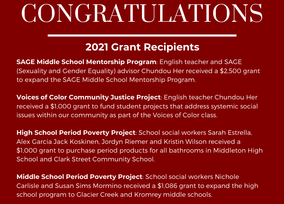 Education Foundation Awards Nearly $5,600 in Grants to MCPASD Teachers and Staff